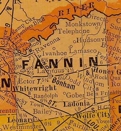 Fannin County Texas Map