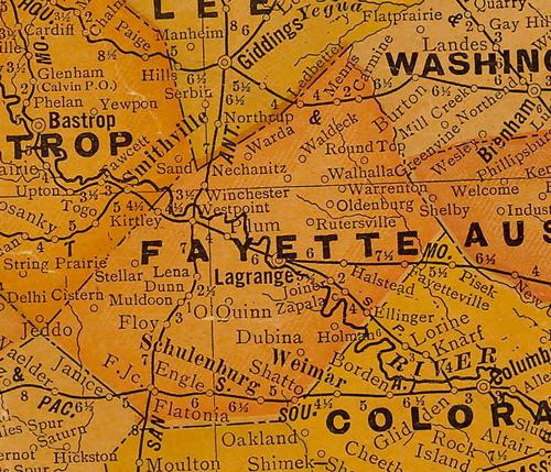 TX Fayette County 1920s map