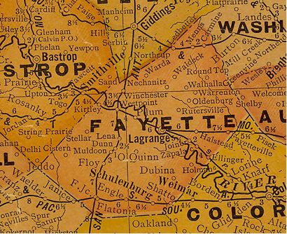 Fayette County TX 1920s map