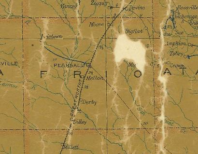 Frio County TX 1907 Postal Map