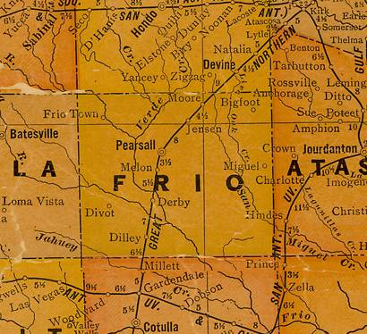 Frio County TX 1920s map
