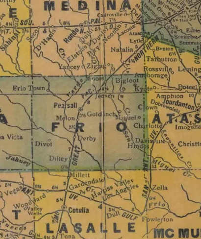 Frio County 1920s map