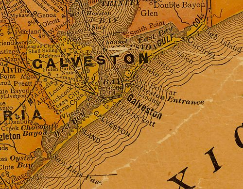 Galveston Texas Historic Galveston – Galveston Tourist Attractions Map