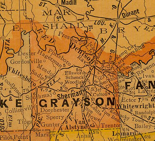 Grayson County Texas Map