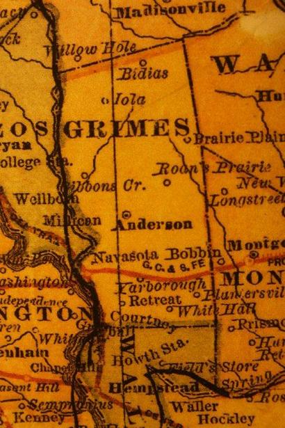 Grimes County Texas History Cities Towns Courthouse Vintage Maps