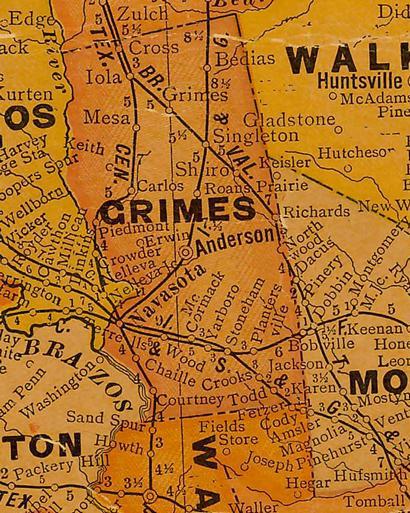 TX Grimes County 1920s map