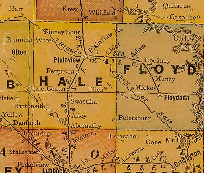 Texas - Hale and Floyd County 1920s map