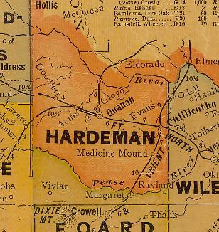 TX Hardeman County 1920s Map
