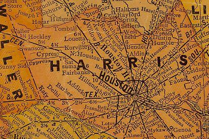 North Houston Texas - Map houston harris county