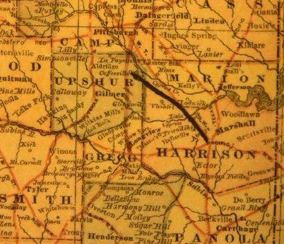 Harrison  county TX 1882 map