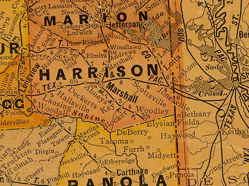 Harrison  county TX 1920s map