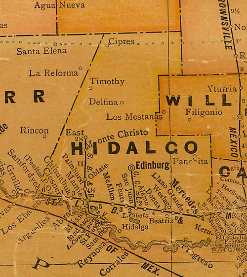 Hidalgo County Texas Map