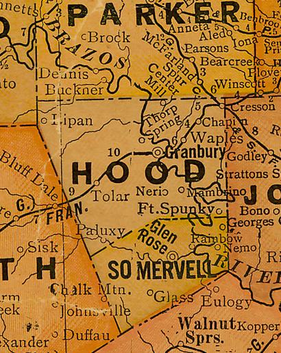 Where Is Hood County Texas On A Map