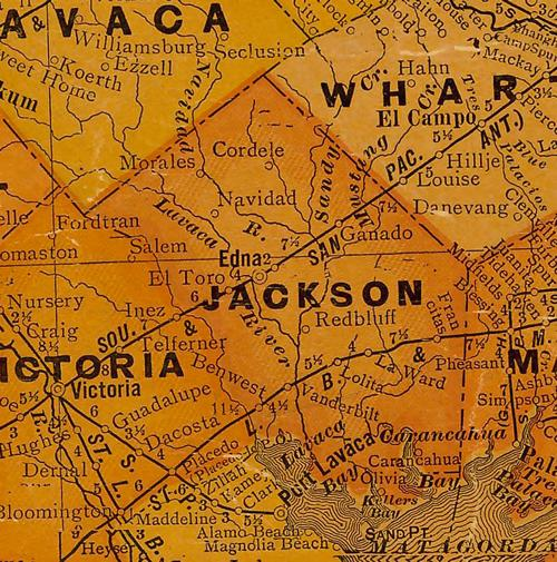 Jackson County Texas 1920sMap