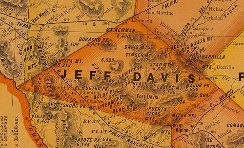 Jeff Davis  County TX 1920 Map