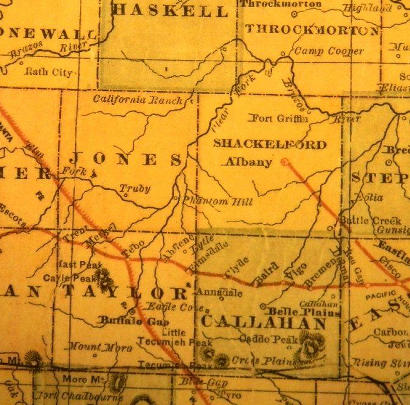 TX - Taylor County Texas 1882 Map