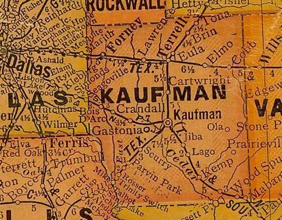 Map Of Kaufman Texas