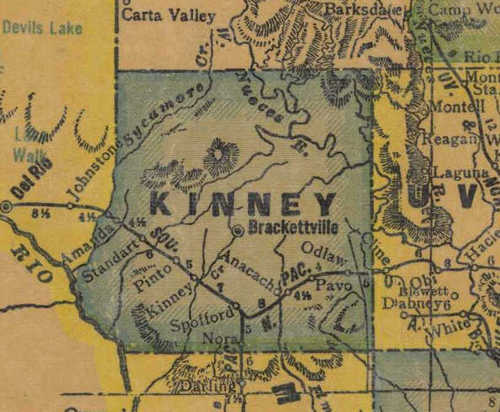 TX Kinney County 1940s Map
