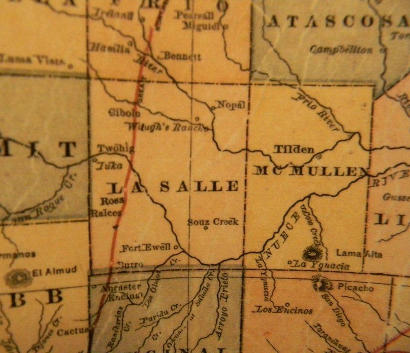 McMullen County TX 1882 Map