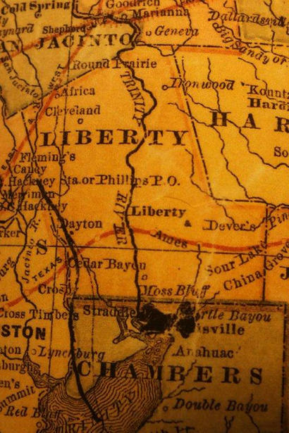 Liberty County TX 1882 Map