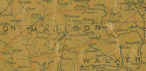 Madison County Texas Map