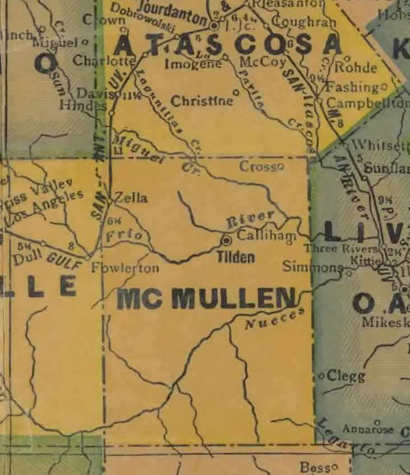 Cross texas tx mcmullen county 1940s map publicscrutiny Choice Image