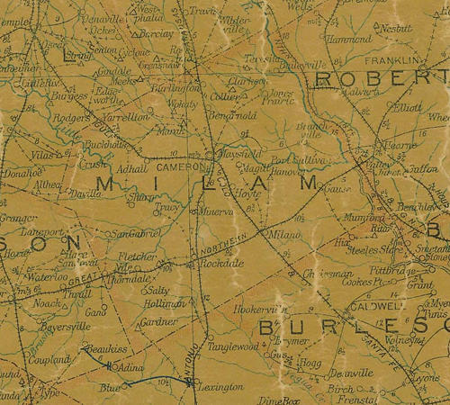 Milam County Texas
