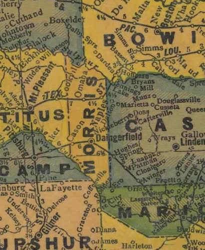 Morris County TX 1940s map