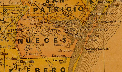 TX Nueces County 1920s Map