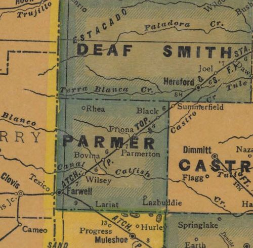 Map Of Xit Ranch Texas.Parmer County Texas