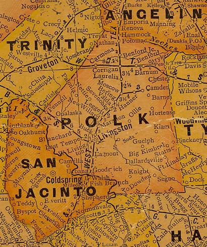 Polk County Texas 1920s