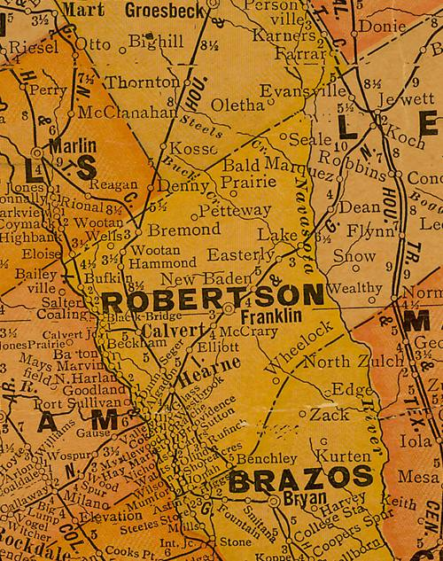 TX Robertson County 1920s map