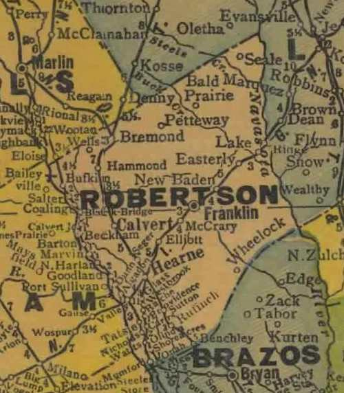 TX Robertson County 1940s map