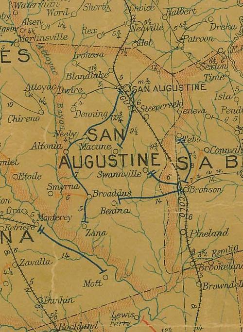 San Augustine County Texas - Map ot texas