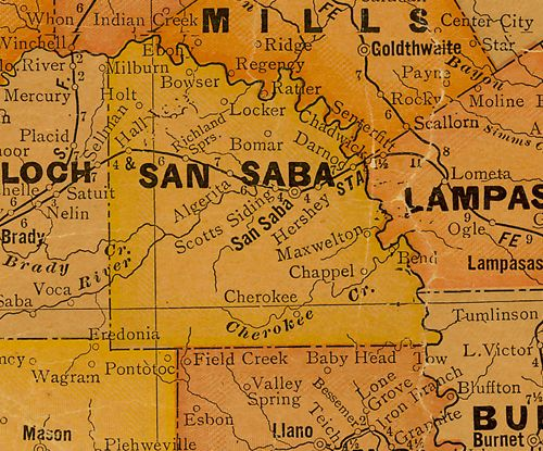 San Saba County Texas