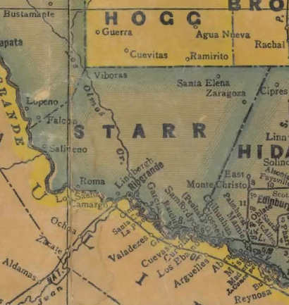 TX Starr County 1940s Map