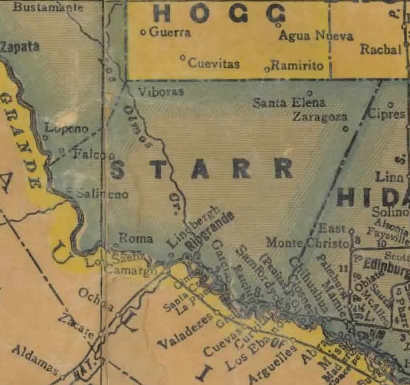Starr County Texas Map