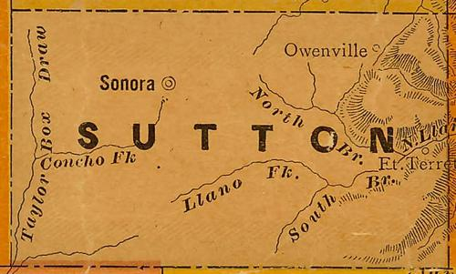 TX Sutton County 1940s Map