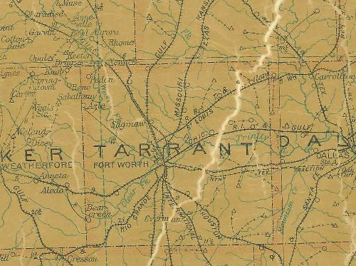 TX - Tarrant County 1907 Postal Map