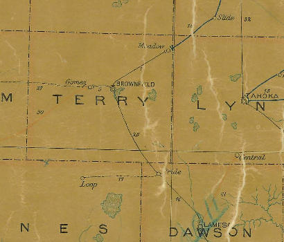 Terry County Texas 1907 Postal Map