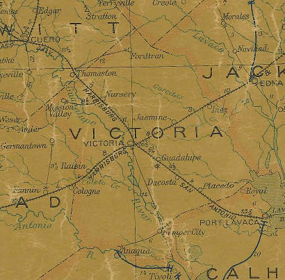 Map Of Texas Victoria.Victoria County Texas