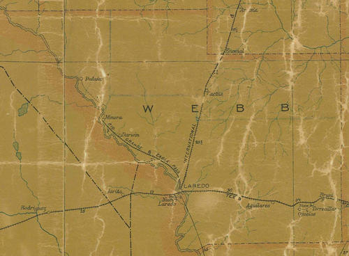 TX Webb County 1907s Map