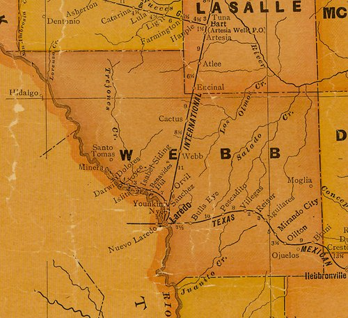 TX Webb County 1920s Map