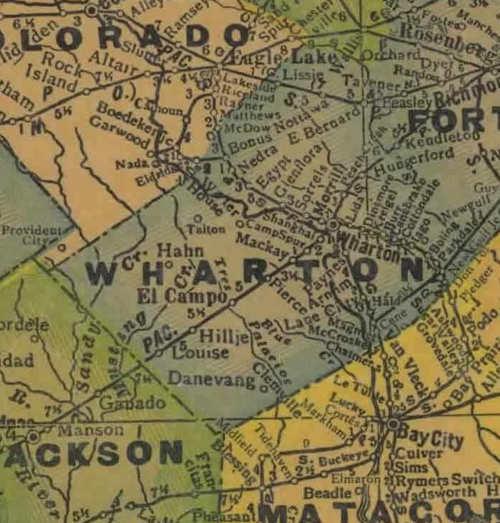 Wharton County Texas - Map of egypt texas