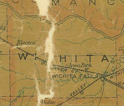 Bismark, Wichita County, Texas town absorbed by Iowa Park