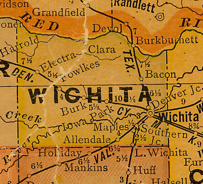 TX Wichita County 1920s Map