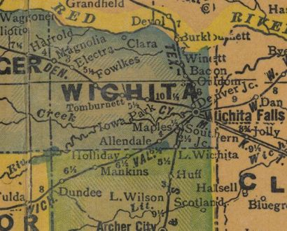 Wichita County Texas 1940