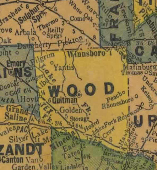 Wood County Texas Map