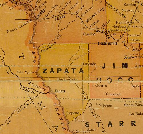 Map Of Zapata Tx.Zapata County Texas