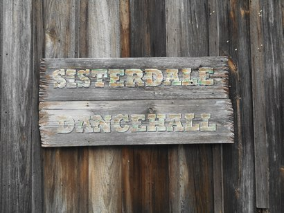 TX - Sisterdale Dancehall  sign